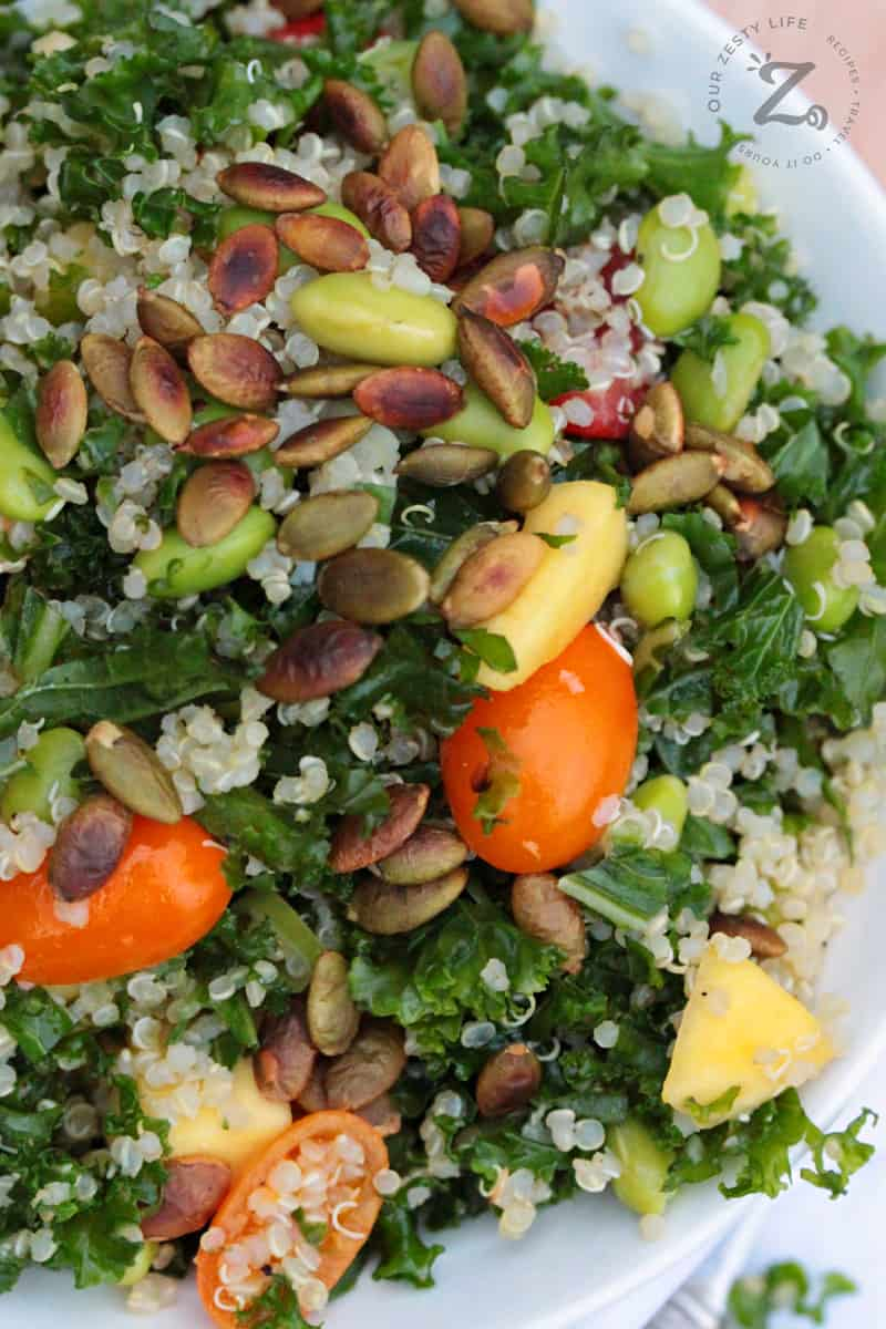 Kale Quinoa Salad Our Zesty Life