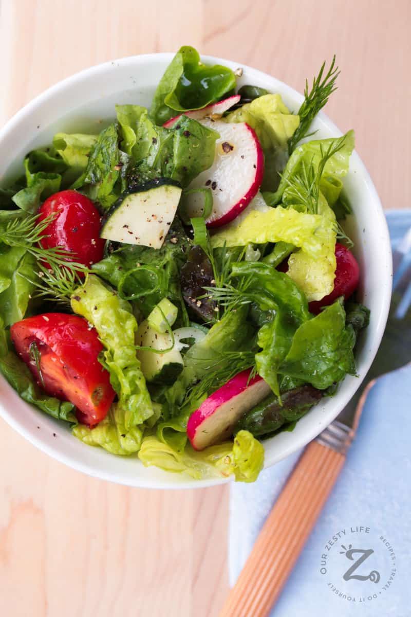 Red Leaf Salad With Lemon Vinaigrette Our Zesty Life
