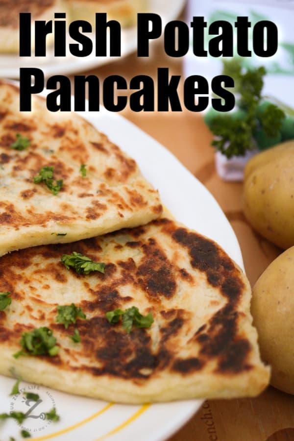 a serving of potato pancakes