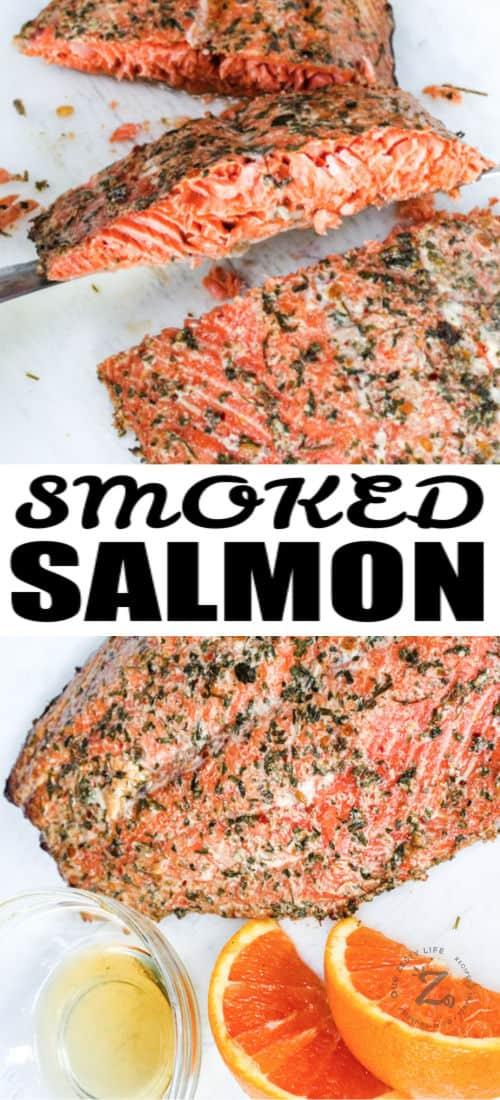 Smoked Salmon with writing