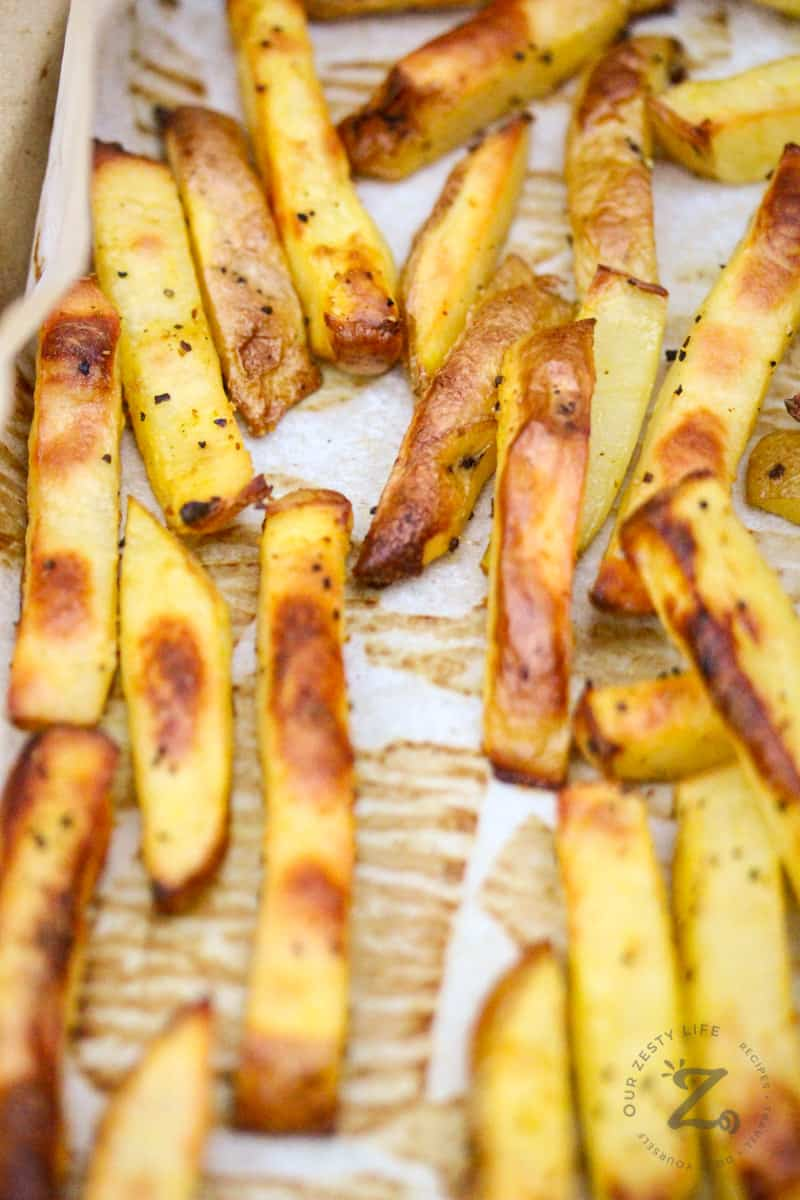 Oven Baked Fries Perfectly Seasoned! - Our Zesty Life