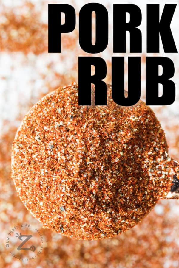 close up of Pork Rub with a title