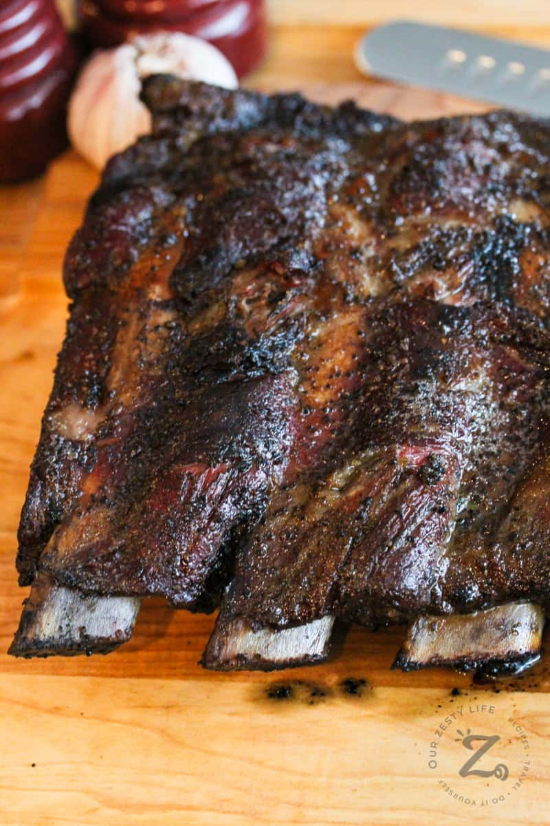 Smoked Beef Ribs Perfectly Seasoned Our Zesty Life