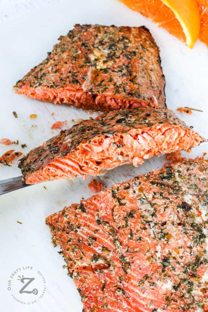 slices of Smoked Salmon