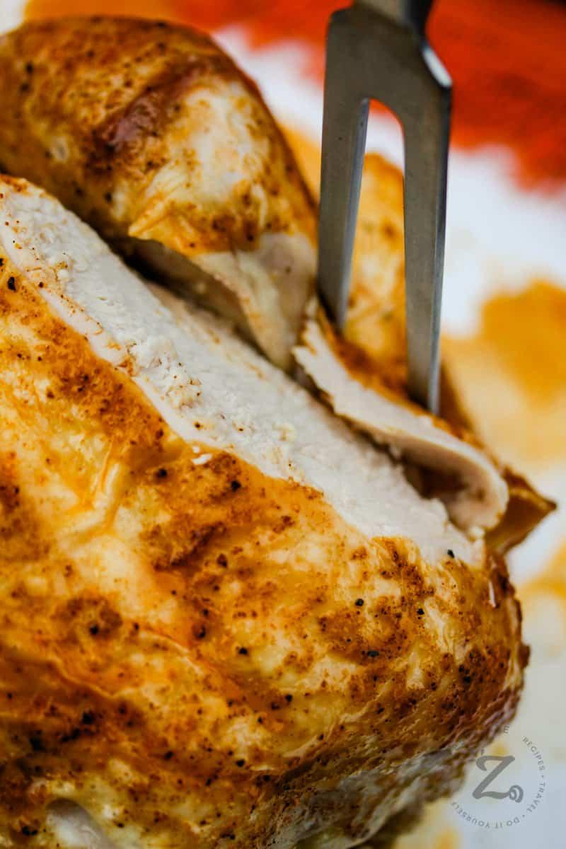 close up of Rotisserie Chicken