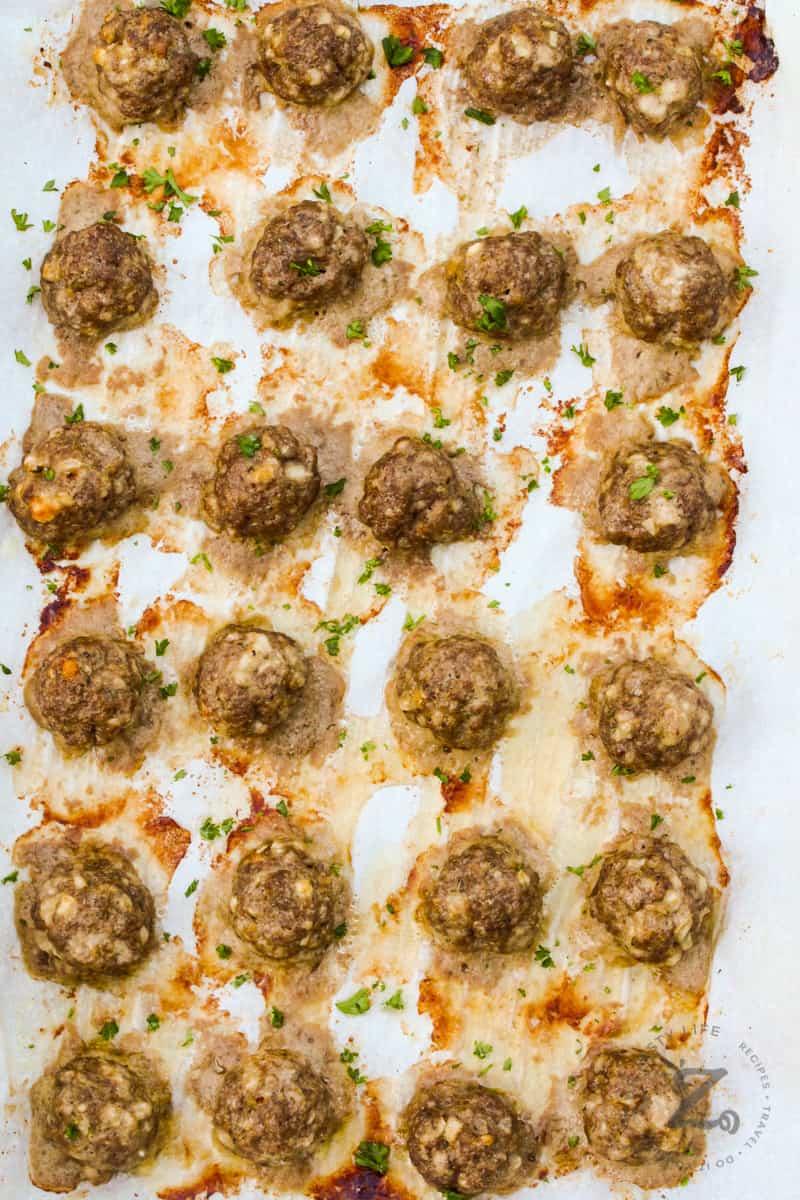 top view of Italian Meatballs