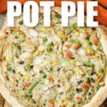 Leftover Turkey Pot Pie with writing