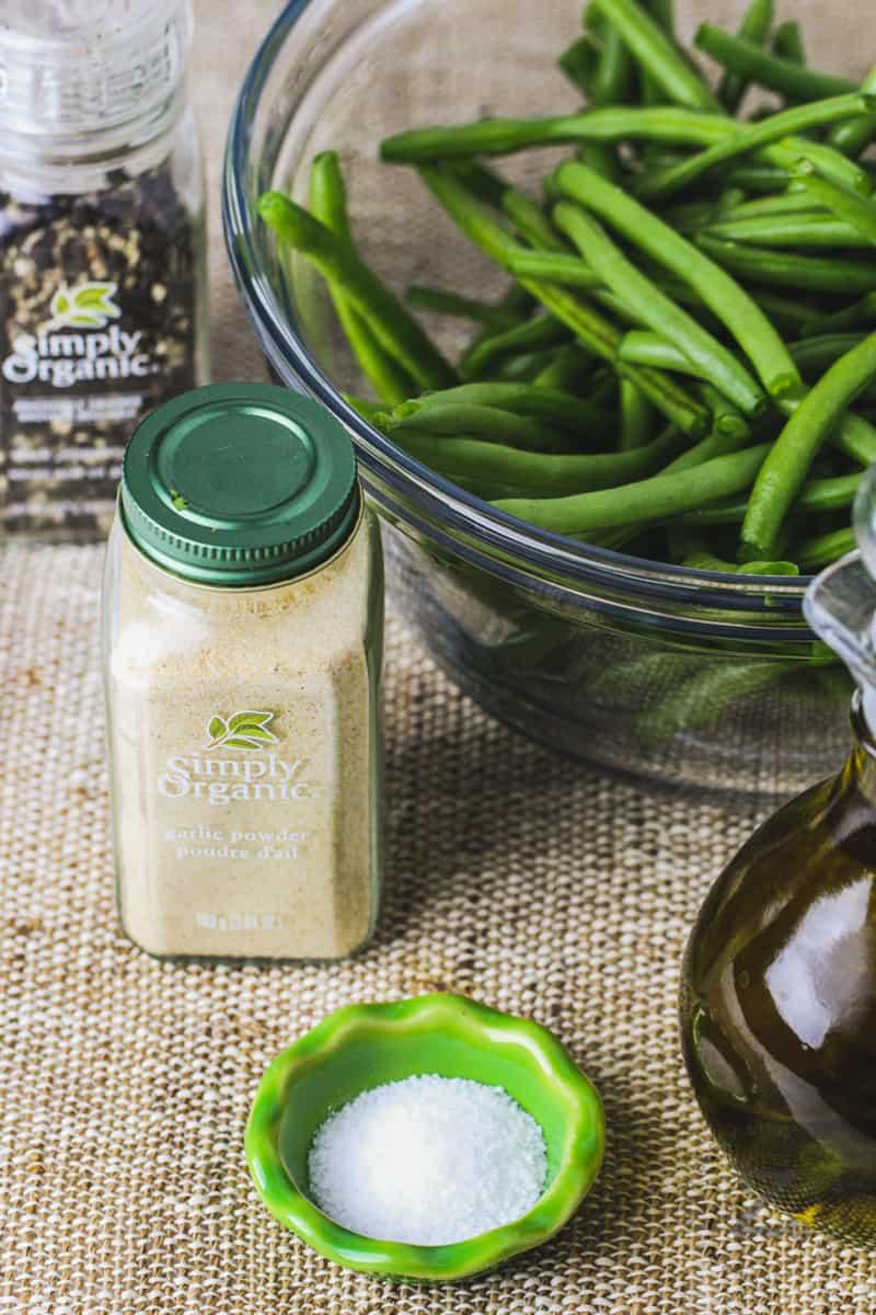 ingredients to make Air Fryer Green Beans