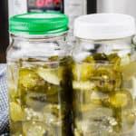 Instant Pot Quick Pickled Jalapenos in jars