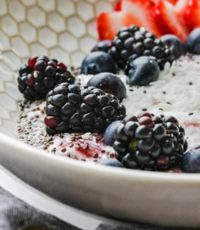 Yogurt Bowl in a decorative bowl