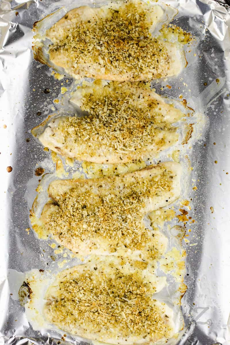 top view of cooked Baked Tilapia