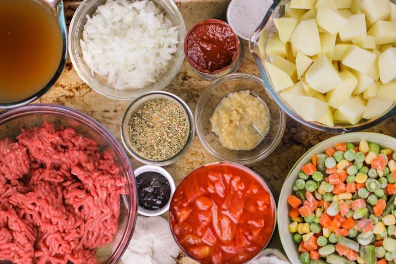 ingredients to make Hamburger Soup
