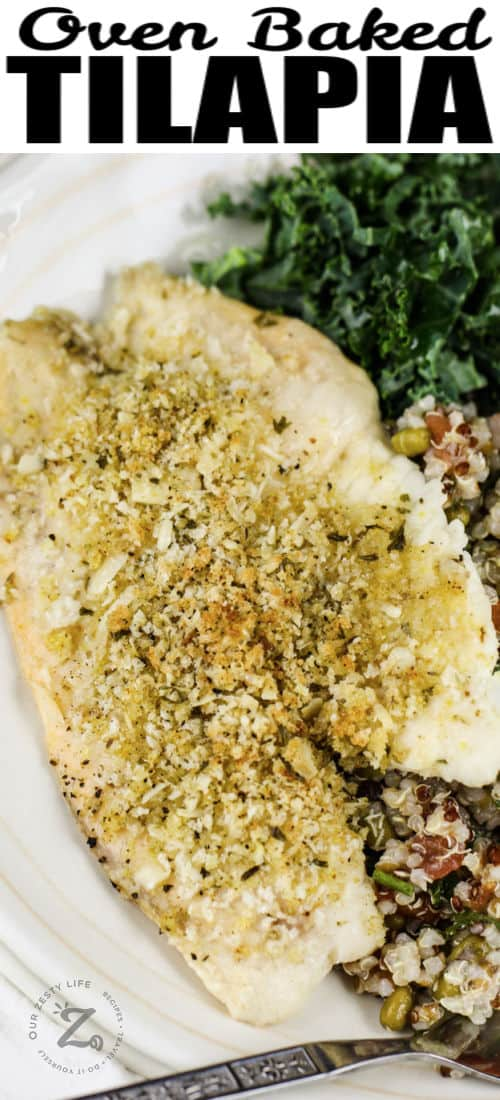 Baked Tilapia with a title