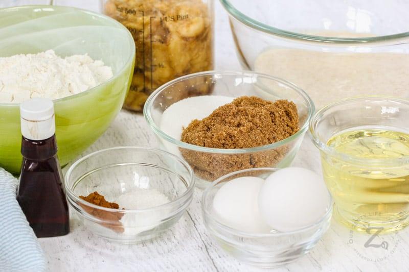 Sourdough Banana Bread ingredients