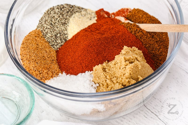 close up of spice in a bowl to make Best Beef Brisket Rub
