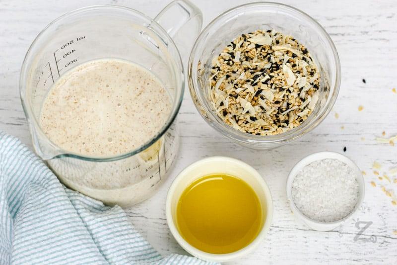 Sourdough Crackers ingredients