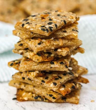 pile of Sourdough Crackers