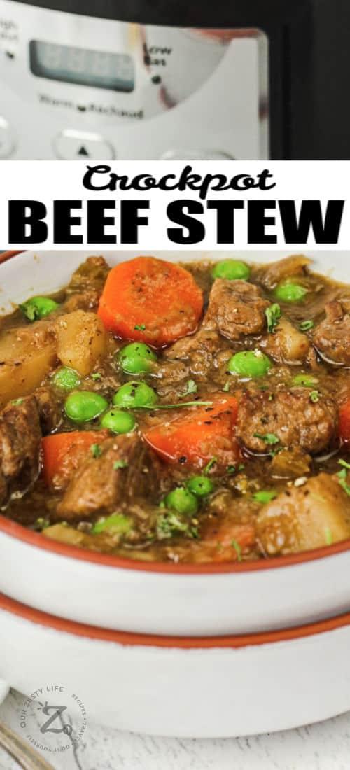crockpot Beef Stew in bowls