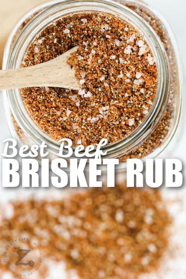 Best Beef Brisket Rub with writing