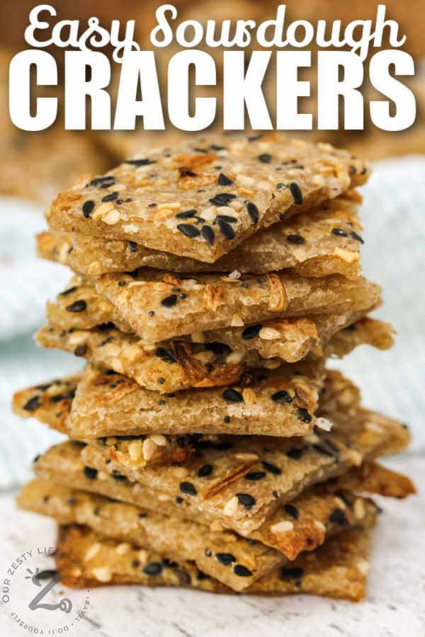 Sourdough Crackers with a title