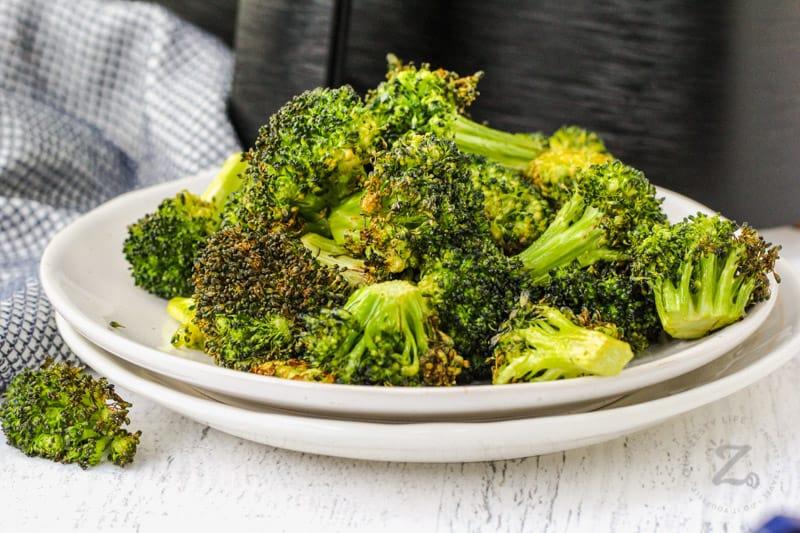 plated Air Fryer Broccoli