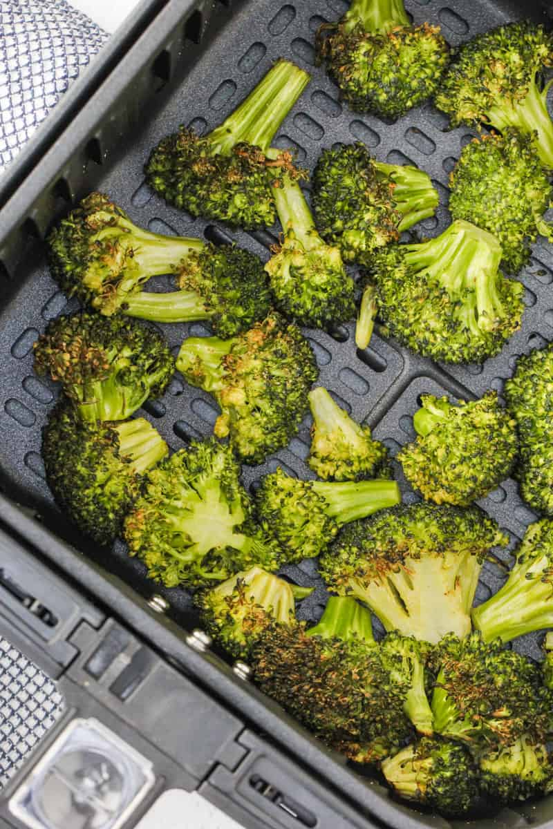 cooked Air Fryer Broccoli