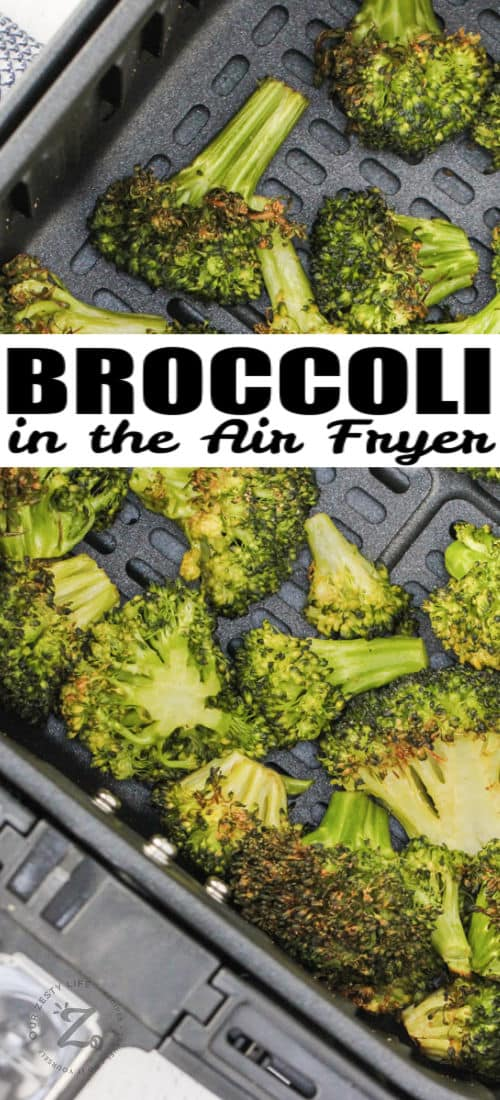 Air Fryer Broccoli with a title