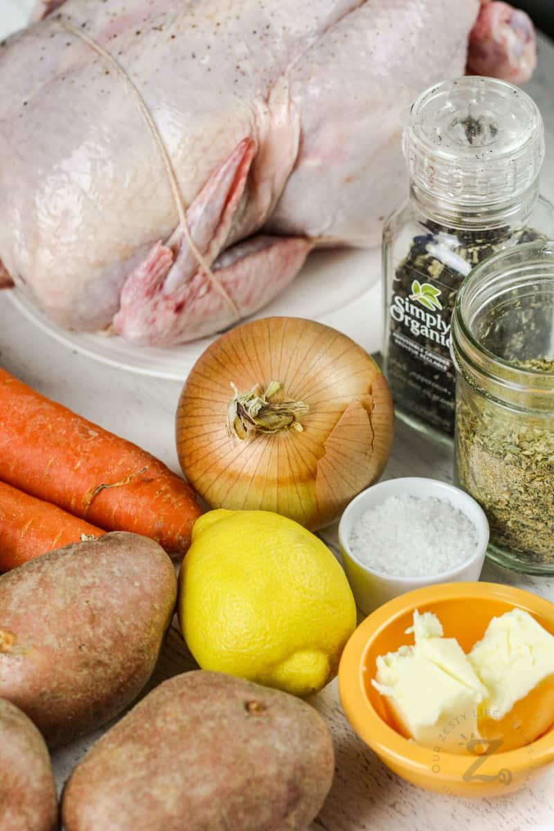 Roast Chicken and Vegetables ingredients