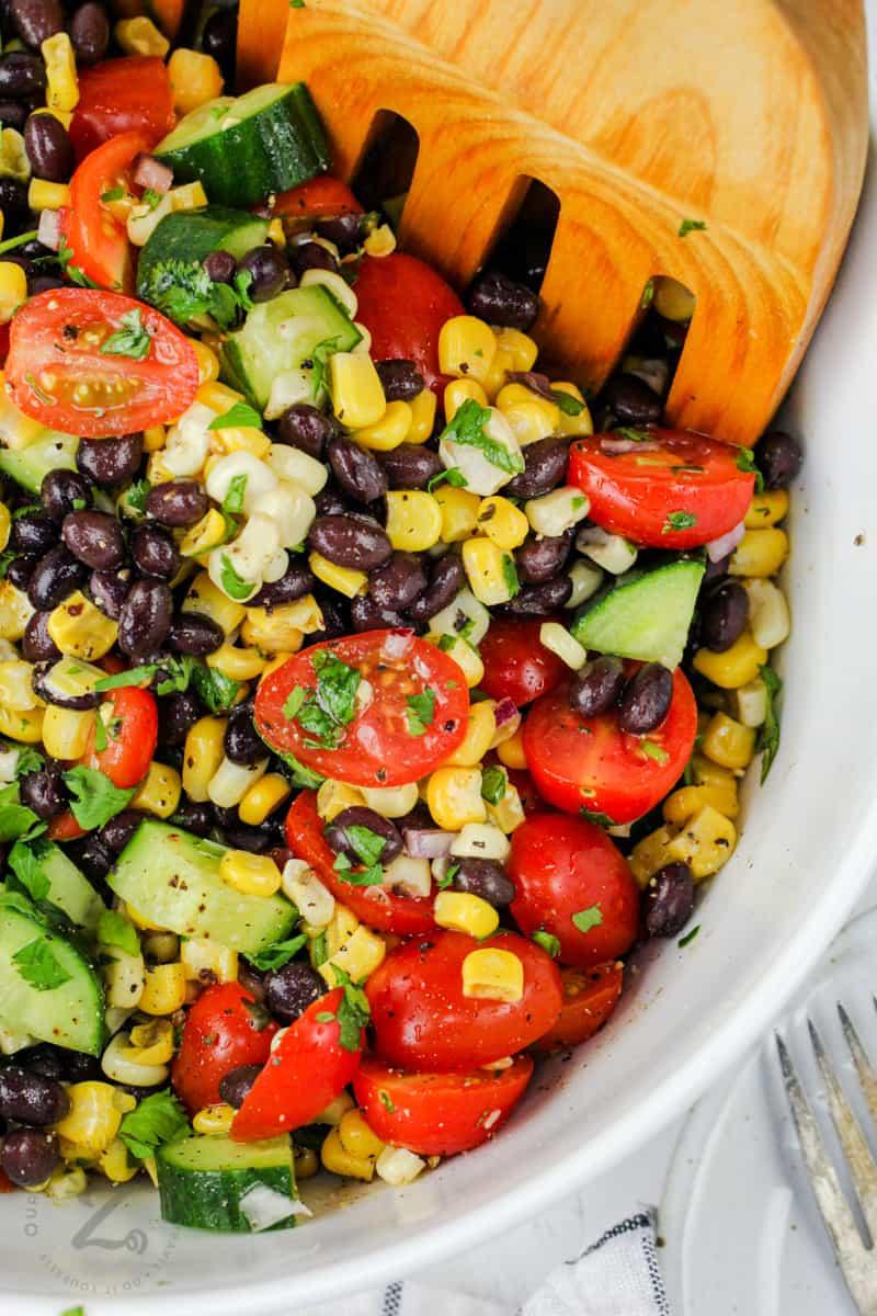 close up of Black Bean Corn Salad