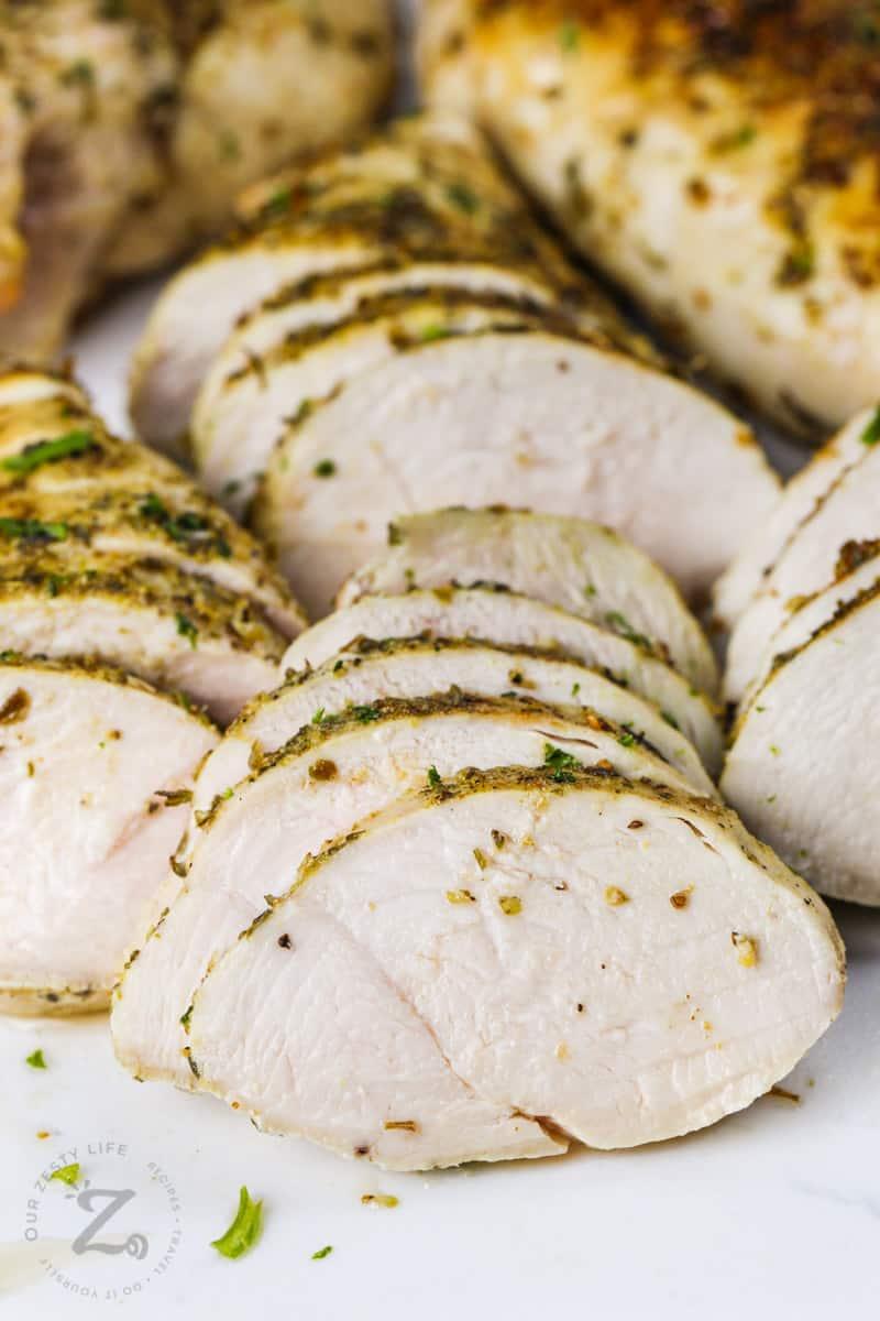 sliced Air Fryer Chicken Breasts