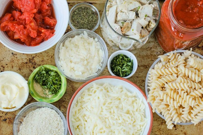 ingredients to make Chicken Parmesan Casserole
