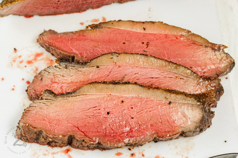 cooked slices of Picanha Roast