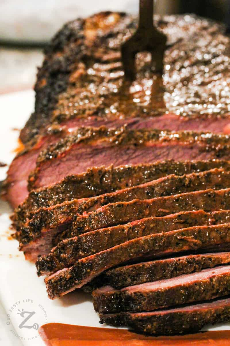 slices of cooked Smoked Beef Brisket
