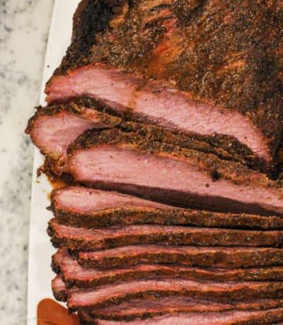 Smoked Beef Brisket cut int slices