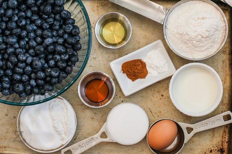 ingredients to make Blueberry Cobbler