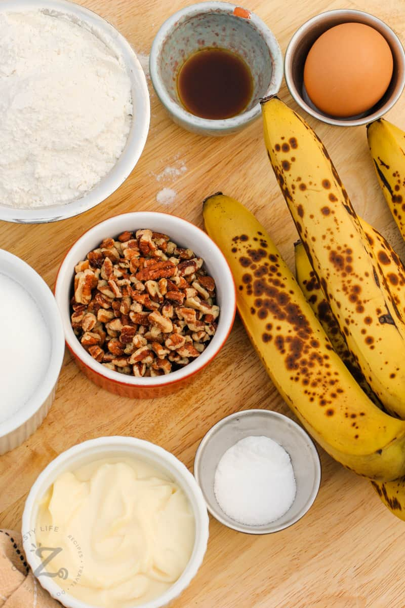 ingredients to make Moist Banana Bread