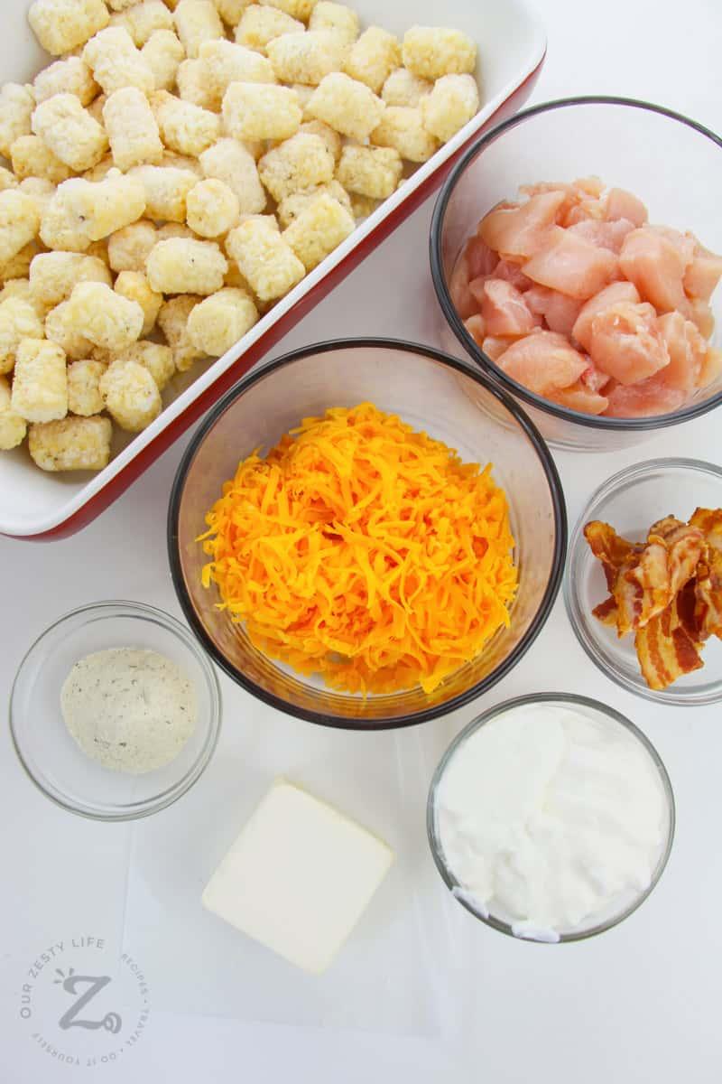 ingredients to make Crack Chicken Casserole