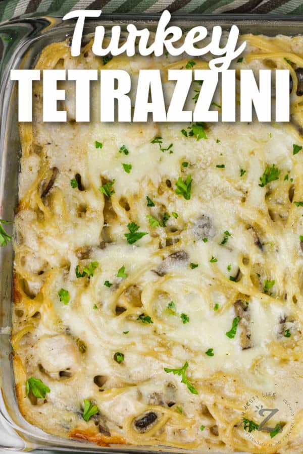 baked Turkey Tetrazzini with a title